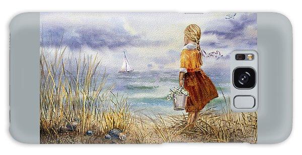 A Girl And The Ocean Galaxy Case