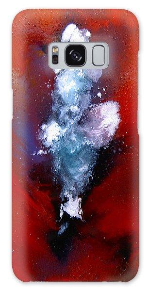 A  Girl At Sea Galaxy Case by Min Zou