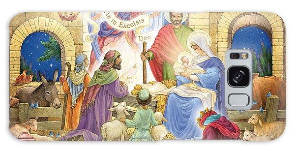 A Glorious Nativity Galaxy Case