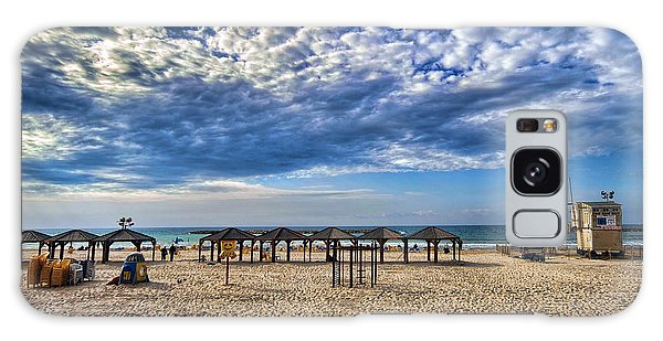 a good morning from Jerusalem beach  Galaxy Case by Ron Shoshani