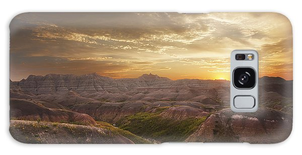 A Good Sunrise In The Badlands Galaxy Case