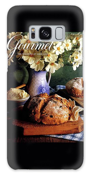 A Gourmet Cover Of Bread And Flowers Galaxy Case