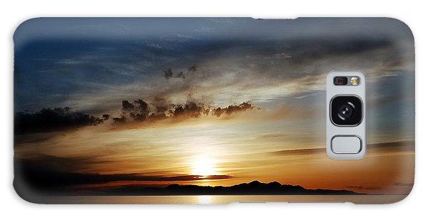 A Great Salt Lake Sunset Galaxy Case