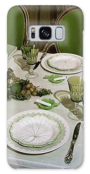 A Green Table Setting Galaxy Case
