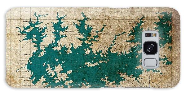 Vintage Map Print Lake Sidney Lanier Georgia Galaxy Case