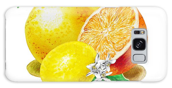 A Happy Citrus Bunch Grapefruit Lemon Orange Galaxy Case
