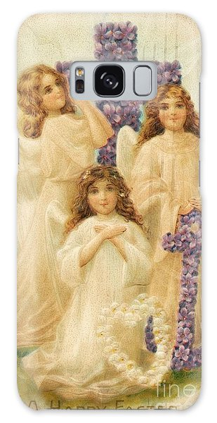A Happy Easter 1908 German Postcard Galaxy Case