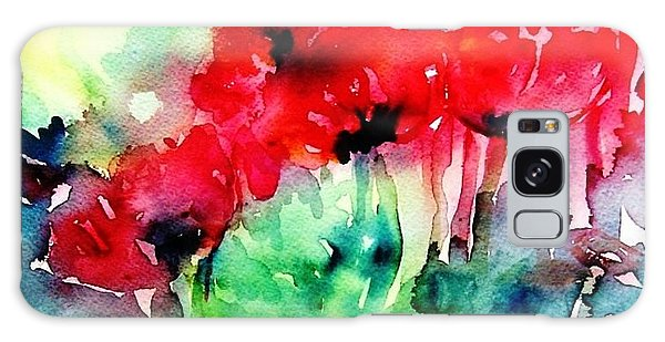 A Haze Of Poppies Galaxy Case