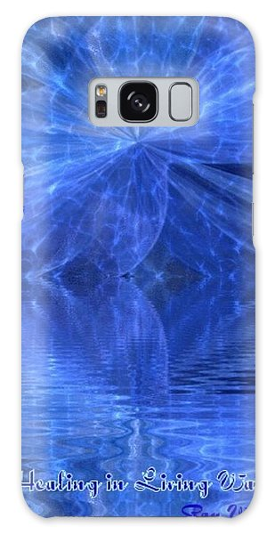 A Healing In Blue Living Waters Galaxy Case