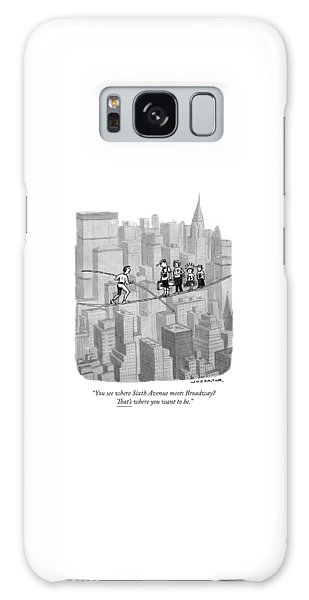 You See Where Sixth Avenue Meets Broadway Galaxy Case