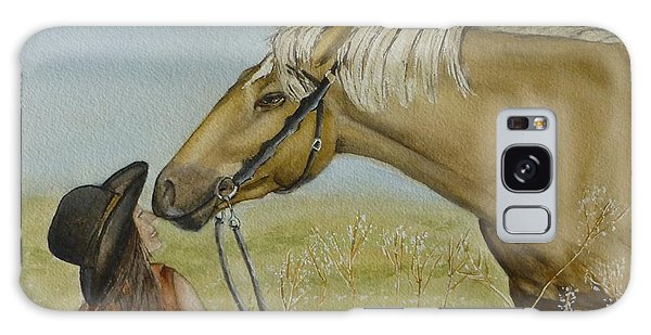 A Horses Gentle Touch Galaxy Case