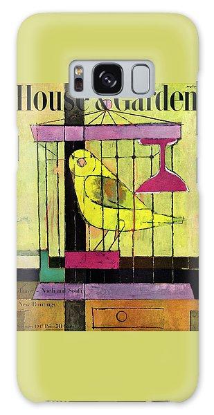 A House And Garden Cover Of A Bird In A Cage Galaxy Case