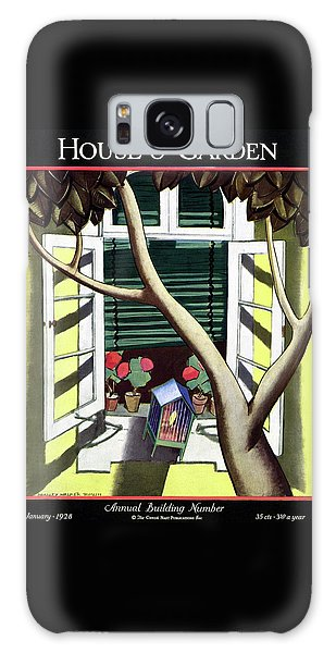 A House And Garden Cover Of A Birdcage Galaxy Case