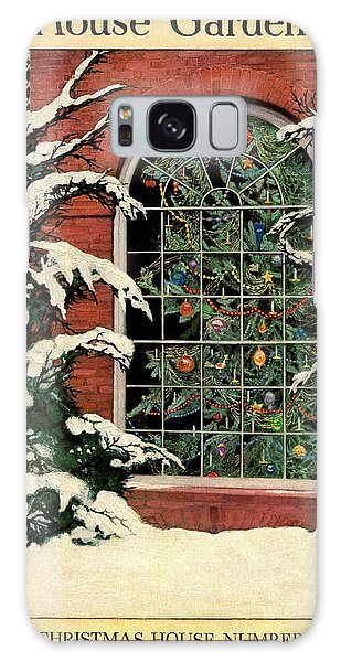A House And Garden Cover Of A Christmas Tree Galaxy Case