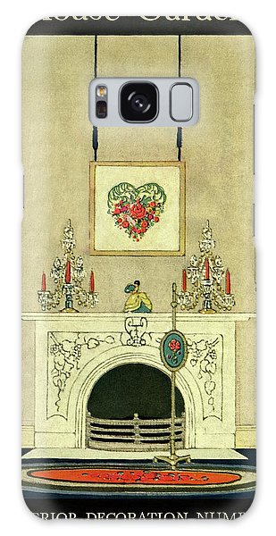 A House And Garden Cover Of A Fireplace Galaxy Case