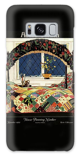 A House And Garden Cover Of A Four-poster Bed Galaxy Case
