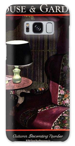 A House And Garden Cover Of A Lamp By An Armchair Galaxy Case