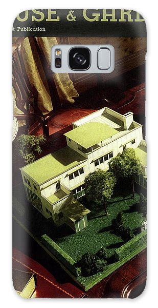 A House And Garden Cover Of A Model House Galaxy Case