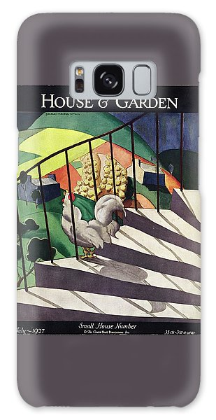 A House And Garden Cover Of A Rooster Galaxy Case