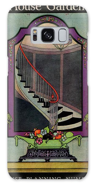 A House And Garden Cover Of A Staircase Galaxy Case