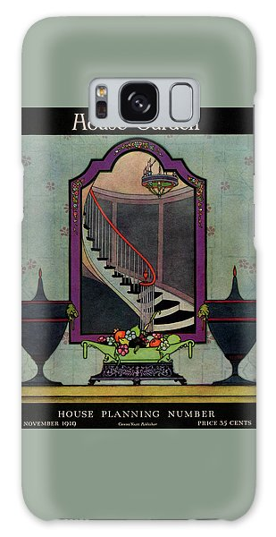 Magazine Cover Galaxy Case - A House And Garden Cover Of A Staircase by Harry Richardson