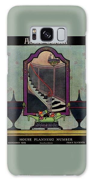 A House And Garden Cover Of A Staircase Galaxy Case