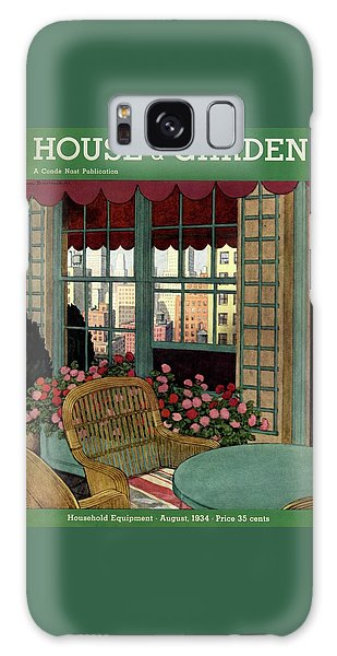Magazine Cover Galaxy Case - A House And Garden Cover Of A Wicker Chair by Pierre Brissaud