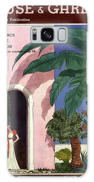 A House And Garden Cover Of A Woman In A Doorway Galaxy Case