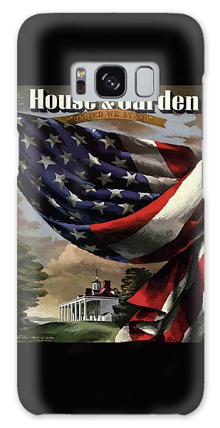 A House And Garden Cover Of An American Flag Galaxy Case