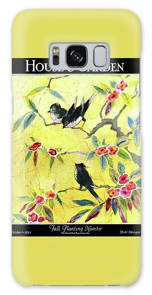 A House And Garden Cover Of Chickadees Galaxy Case