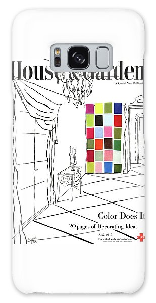 A House And Garden Cover Of Color Swatches Galaxy Case