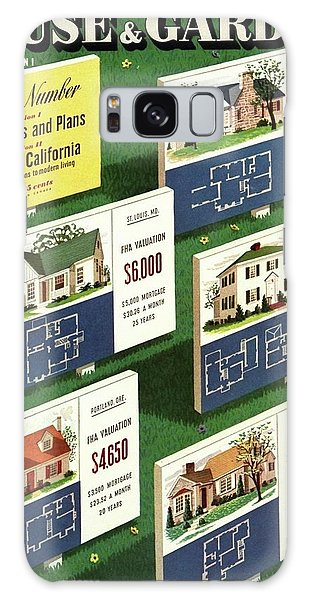 A House And Garden Cover Of Floorplans Galaxy Case