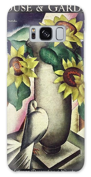 A House And Garden Cover Of Flowers And A Dove Galaxy Case