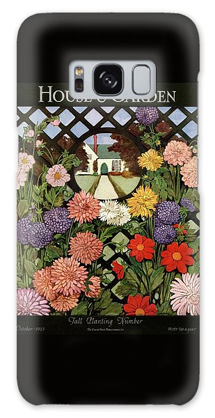 A House And Garden Cover Of Flowers Galaxy Case