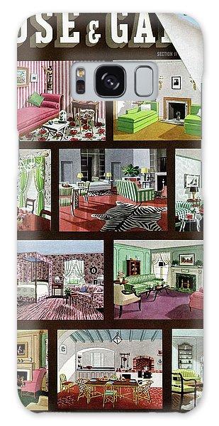 A House And Garden Cover Of Interior Design Galaxy Case