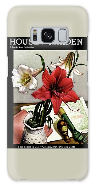 A House And Garden Cover Of Lilies Galaxy Case