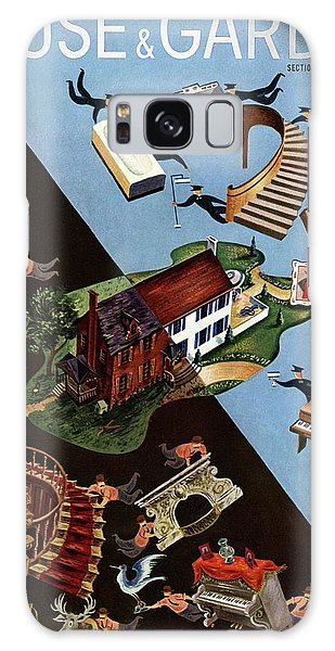 A House And Garden Cover Of People Moving House Galaxy Case