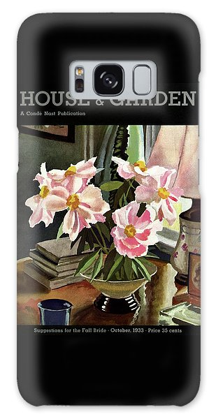 A House And Garden Cover Of Rhododendrons Galaxy Case