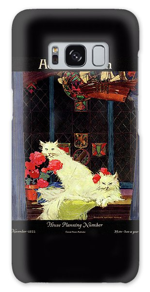 A House And Garden Cover Of White Cats Galaxy Case