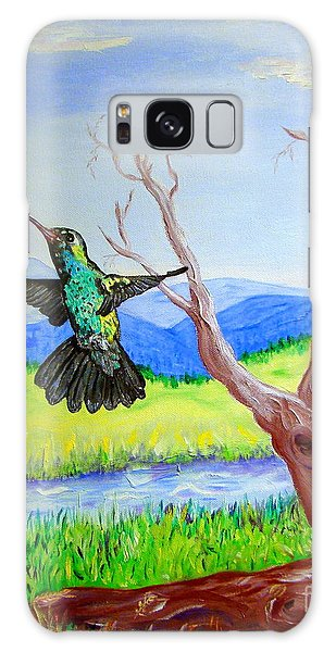 A Hummingbirds Day Galaxy Case