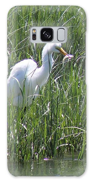 A Hungry Great Egret Galaxy Case