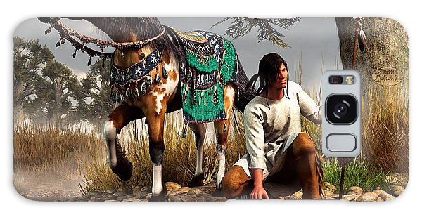 A Hunter And His Horse Galaxy Case