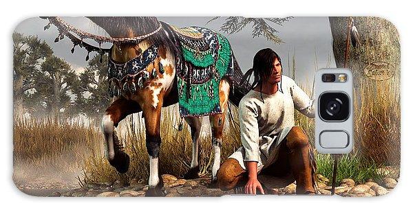 A Hunter And His Horse Galaxy Case by Daniel Eskridge