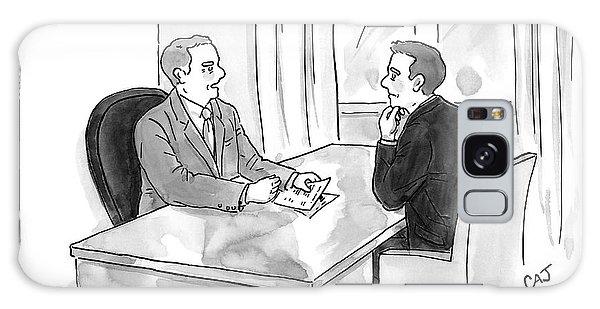 A Job Interviewer Scolds An Interviewee Galaxy Case