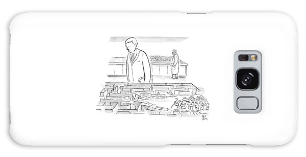 A Laboratory Scientist Looks On As The Walls Galaxy Case by Paul Noth