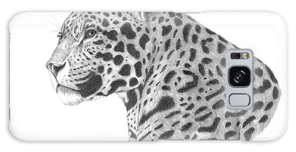 A Leopard's Watchful Eye Galaxy Case