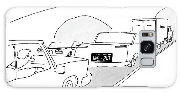 A License Plate That Reads  Lic-plt Galaxy Case