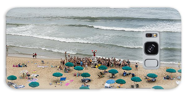A Lifeguard Gives A Safety Briefing To Beachgoers In Ocean City Maryland Galaxy Case