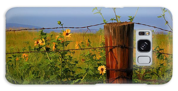 Fence Post Galaxy Case - A Little Bit Of Yellow by Donna Kennedy