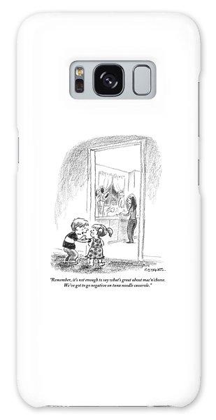 A Little Boy Speaks To A Little Girl Galaxy S8 Case
